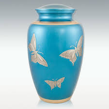 butterfly urn blue butterfly brass cremation urn engravable