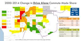 Denver Neighborhoods Map Despite What You May Have Heard The Car Is Still King In Denver