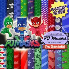 pj masks digital paper
