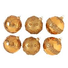 fortnum s gold baubles set of 6 fortnum