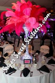 feather centerpieces island sweet 16 party centerpiece rentals