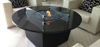 Granite Table Gas Patio Fire Pit Table