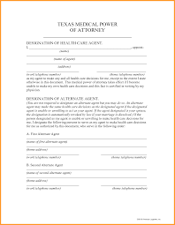 Printable Medical Power Of Attorney Forms 8 tx power of attorney form week notice letter