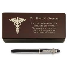med school graduation gift personalized pen and box for doctors school graduation