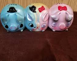 His And Hers Piggy Bank Vintage Enesco Piggy Bank Etsy