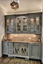 Antique Kitchen Cabinets Kitchen Grey Cabinets Distressed Kitchen Rustic Wooden Blue