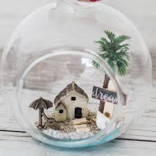 summer home decor glass ball miniature christmas ornament