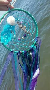Gypsy Shower Curtain Paradise Mermaid Decor Large Dream Catcher Purple Teal Dream