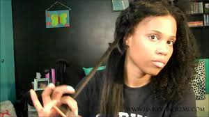 Mongolian Curly Hair Extensions by Washing And Straightening My Mongolian Curly 3 4 Wig Youtube