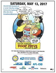 letter carriers to accept donations at may 13 food drive menifee