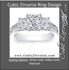 stone set rings images Cz engagement ring 1 25 carat 3 stone princess cut cubic png