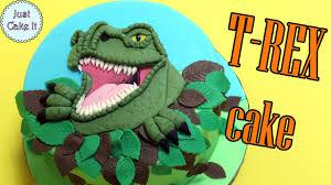 how to make dinosaur t rex cake youtube