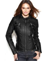 ladies motorcycle leathers michael michael kors leather buckle collar motorcycle jacket