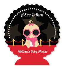 a star is born hollywood baby shower table centerpiece baby