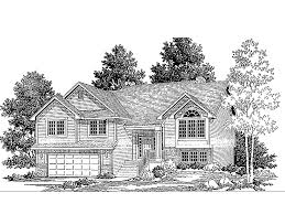 split level house plans attached garage house plans 24102