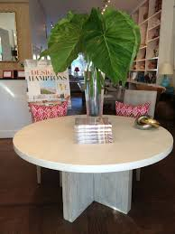 round concrete and reclaimed elm dining table mecox gardens round concrete and reclaimed elm dining table
