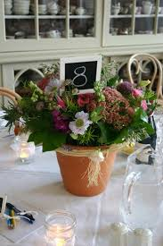 wedding flower pot centerpiece ideas centro de mesa con dulces y
