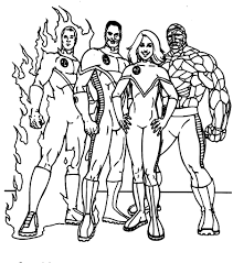 fantastic four coloring pages eson me