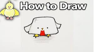 how to draw a cute cartoon chicken kawaii minecraft youtube
