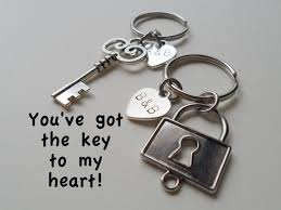 key to my heart gifts key and lock keychain set key ring gift husband