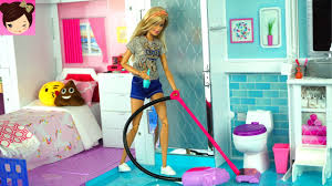 barbie house cleaning morning routine grocery store supermarket