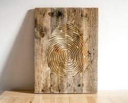 fingerprint wall carved wooden wall hanging for a