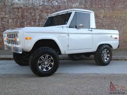 white bronco car ford bronco half cab uncut unrestored auto v8 nice solid daily