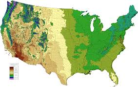 United States Climate Map by Climate Types