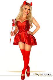 4 pc top drawer devil costume