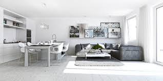 simple studio apartment design cement patio