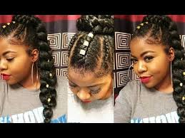 human hair ponytail with goddess braid how to sleek ponytail with braiding hair hairstyles for black