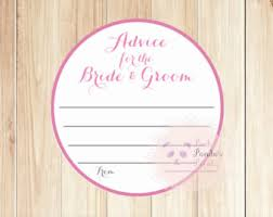 Words Of Wisdom For Bride And Groom Cards Wedding Advice Cards Etsy