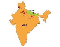 Nepal Map World by Flourish Yoga In India U0026 Nepal March 2015 Yoga Retreatour