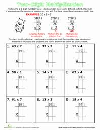 double digit multiplication for 3rd grade education com