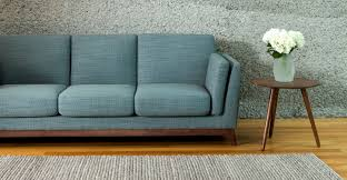 Pennie Sofa Blue Sofa 3 Seater With Solid Wood Legs Article Ceni Modern