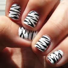 zebra pattern nail art zebra print nail art tutorial instaglam