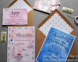 Wedding Invitations Long Island Hand Painted Watercolor Wedding Stationery By Tyingtheknots