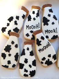 pink little cake milk bottle cow print cookies giveaway and