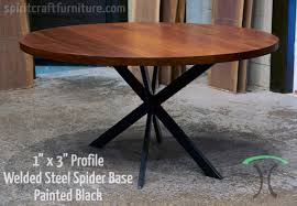round metal table legs table legs and bases for hardwood slab table tops