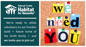 hancock county habitat for humanity building homes with those in