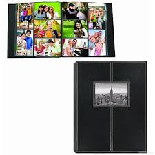 pioneer albums 300 pocket black leatherette frame cover photo album by pioneer
