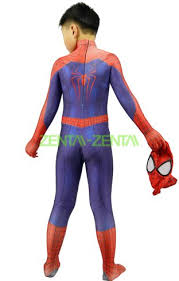 kid the amazing spider man 2 printed zentai suit with 3d muscle