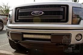 f150 bumper light bar rigid industries 10 inch e series led light bar amber combo 110322