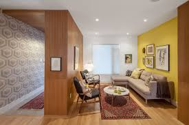 Yellow Accent Wall Lovely Yellow Accents Living Room Contemporary With Oriental Rug