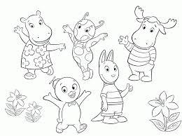 free printable backyardigans coloring pages kids