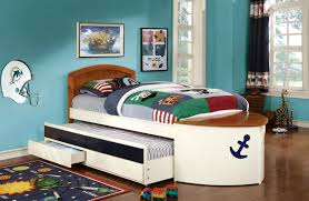 kids captain bed voyager boat captain bed with trundle and 2 drawers cm7768