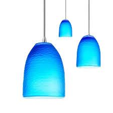 Cobalt Blue Mini Pendant Lights Likeable Blue Pendant Light Fixtures Home Website For Attractive