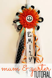 mums for homecoming simple homecoming and garter tutorial child at