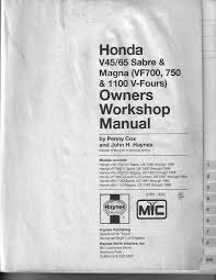 100 owners manual for 1982 honda v45 sabre front brake