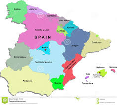 Map Of Spain Cities by Spain Map And Cities Royalty Free Stock Photo Image 15975425